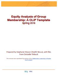 Equity Analysis of Group Membership
