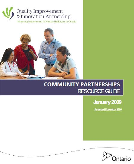 Community partnerships resource guide