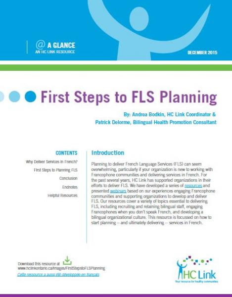 First Steps to FLS Planning