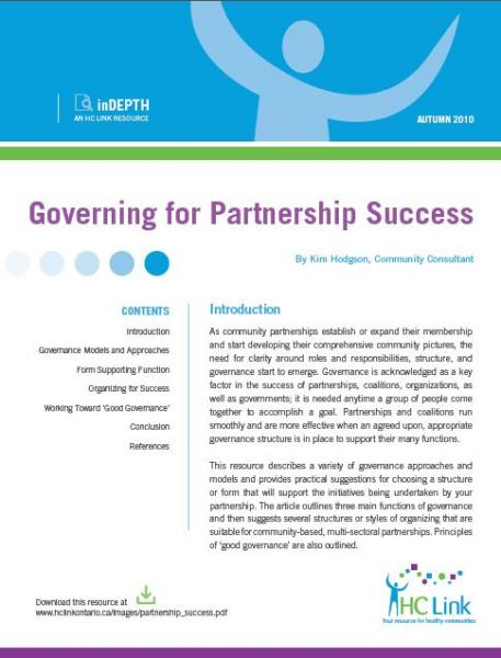 Governing for Partnership Success
