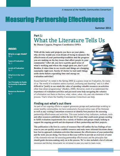 Measuring Partnership Effectiveness