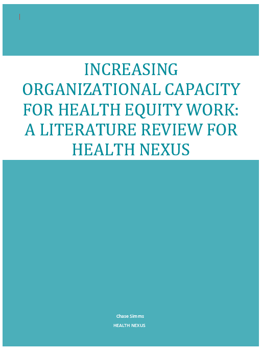 Health equity and racialized groups: a literature review
