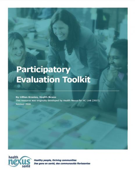 Cover picture for the resource Participatory Evaluations Toolkit. Click to download it.