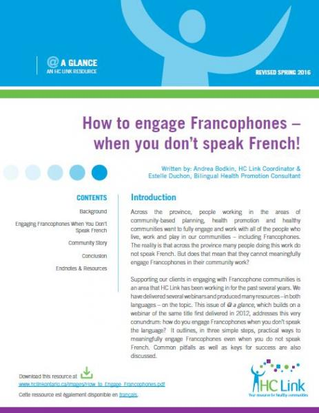 How to engage francophones when you don't speak French