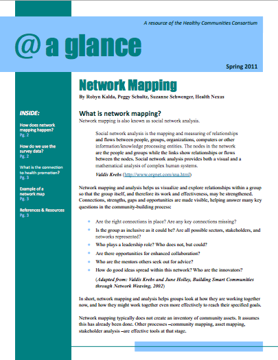 Network Mapping at a Glance