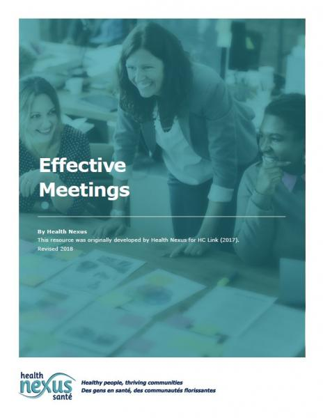 Cover picture of the booklet Effective Meeting. Click to download it.