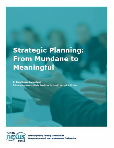Cover of the Strategic Planning booklet